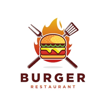 Vetor do logotipo do burger art design