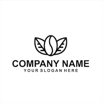 Vetor do logotipo do café preto