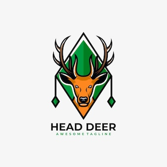 Vetor do logotipo do mascote cervo