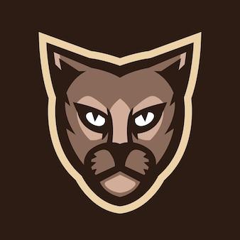 Vetor do logotipo do mascote da cabeça de pantera