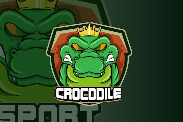 Vetor do logotipo do mascote do crocodilo