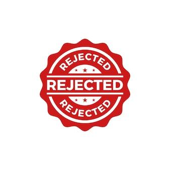 Vetor do selo selado rejeitado