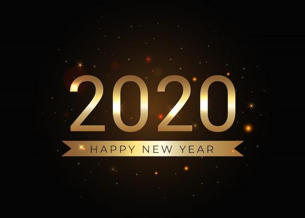 Vetor dourado do ano novo 2020