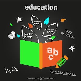Vetor educação gratuita
