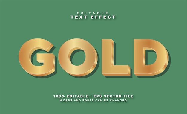 Vetor eps grátis com efeito de texto dourado