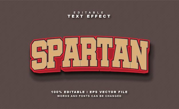 Vetor eps grátis com efeito de texto espartano