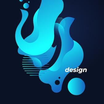 Vetor fluido azul abstrato