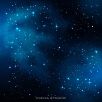 Vetor galáxia com estrelas