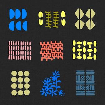 Vetor gráfico de elemento de impressão de bloco étnico