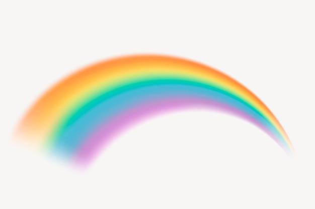 Vetor gráfico do elemento lindo arco-íris