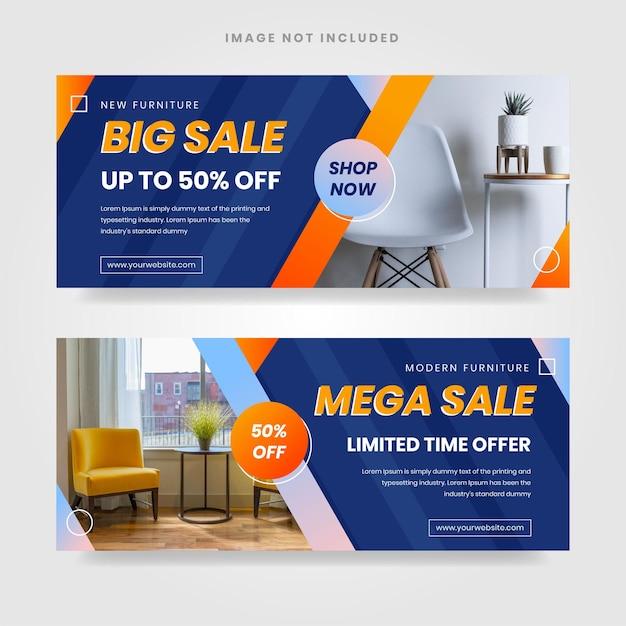 Vetor gratuito de modelo de banner de venda gradiente