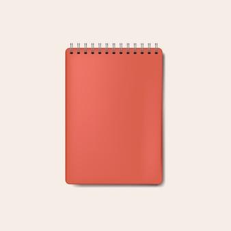 Vetor isolado de caderno vermelho espiral maquete