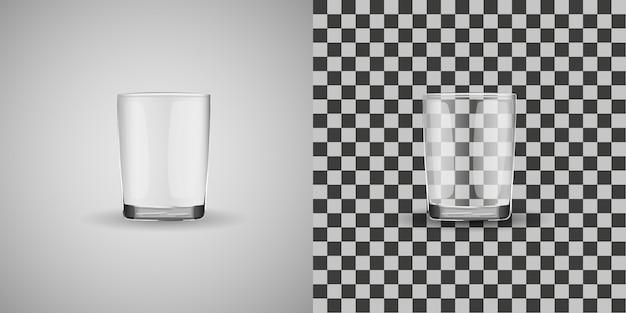 Vetor isolado de copo de vidro
