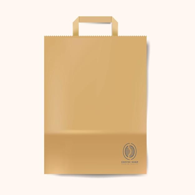 Vetor isolado de maço de saco de papel