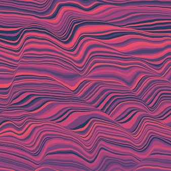 Vetor listrado. ondas de cores abstratas.