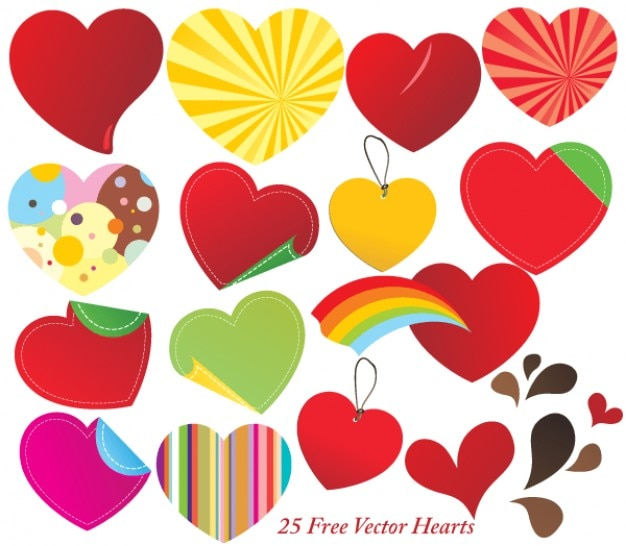 Vetor livre corações ilustrador
