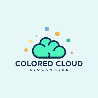 Vetor logotipo colorido nuvem criativa