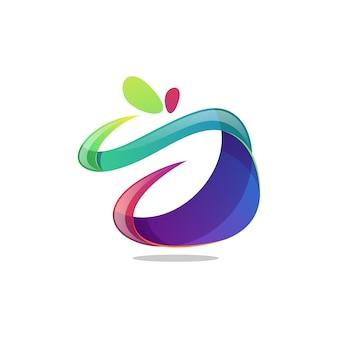 Vetor logotipo colorido