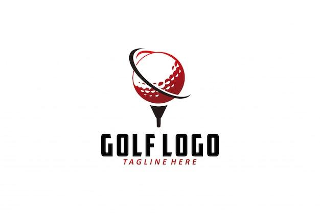 Vetor logotipo de golfe isolado