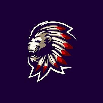 Vetor logotipo de leão