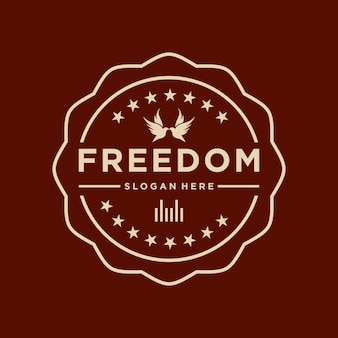 Vetor logotipo liberdade criativo simples