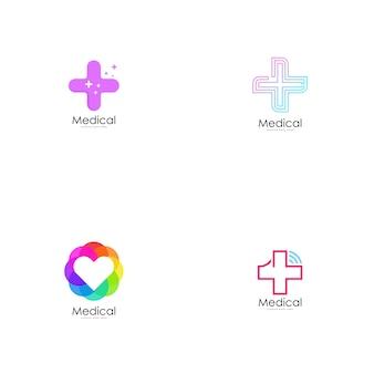 Vetor logotipo médico.