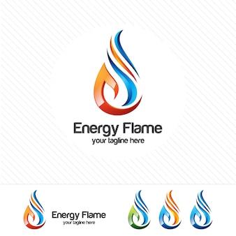 Vetor moderno do projeto do logotipo do petróleo e do gás 3d
