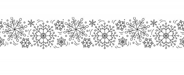 Vetor natal monoline escandinavo sem costura padrão ornamento ano novo