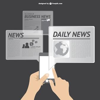 Vetor notícias on-line