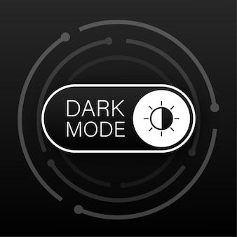Vetor on off switch. alternador de modo escuro e claro para telas de telefone. alternar elemento para aplicativo móvel