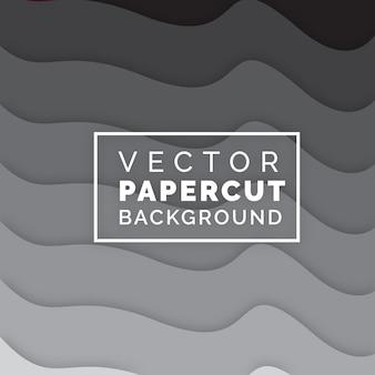 Vetor papercut black & white background
