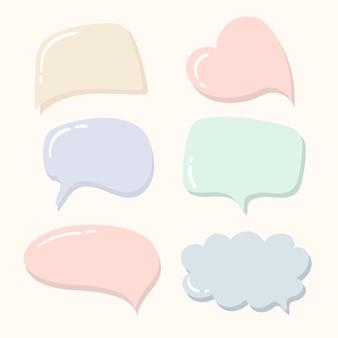 Vetor pastel de modelo de bolha de discurso colorido Vetor Premium