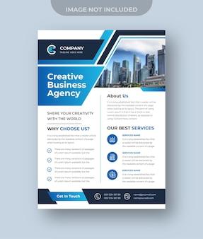 Vetor premium da agência de marketing digital design de folheto de negócios corporativos