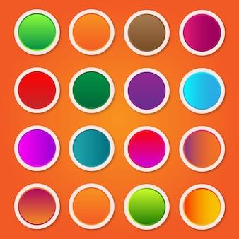 Vetor premium de design de botão redondo gradiente colorido