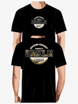 Vetor premium de design de camiseta de tipografia brooklyn