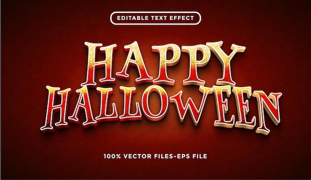 Vetor premium de efeito de texto de halloween