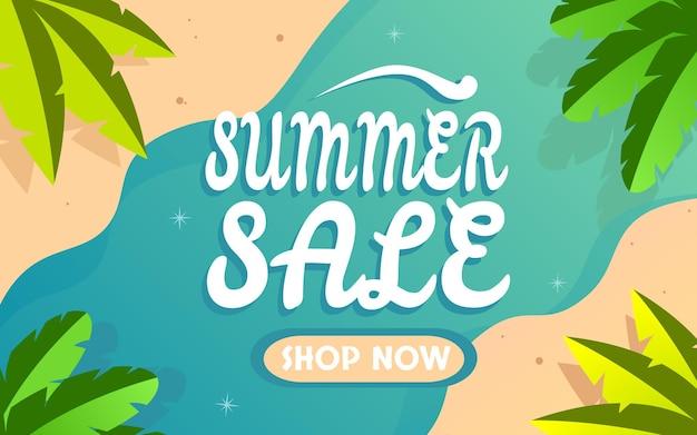 Vetor premium de fundo colorido de banner de verão