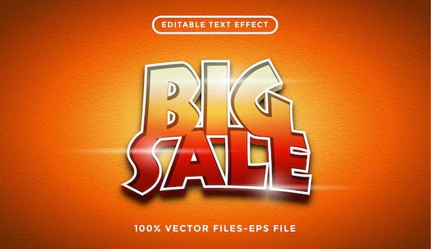 Vetor premium de venda de efeito de texto editável