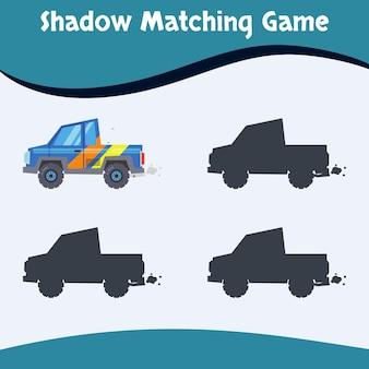 Vetor premium do fundo do jogo de correspondência de sombras
