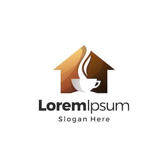 Vetor premium do logotipo do café doméstico
