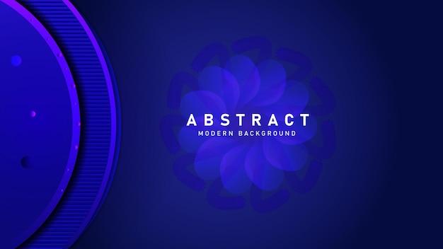 Vetor premium moderno abstrato azul