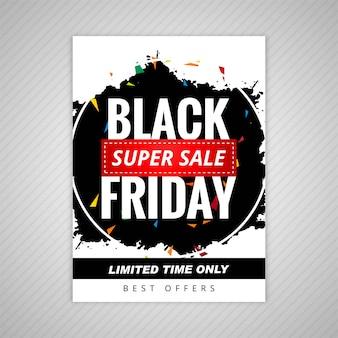 Vetor preto elegante do projeto do molde da venda de sexta-feira