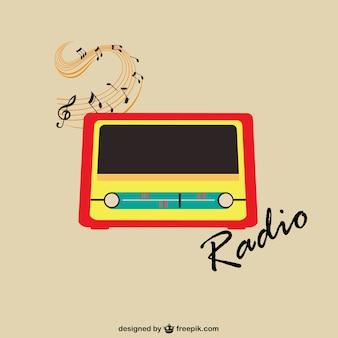 Vetor rádio do vintage