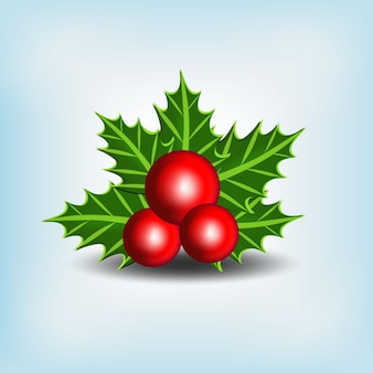 Vetor realista de decorações de natal de cereja