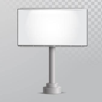 Vetor realista de maquete de billboard