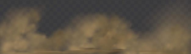 Vetor realista de poeira isolada em um fundo transparente