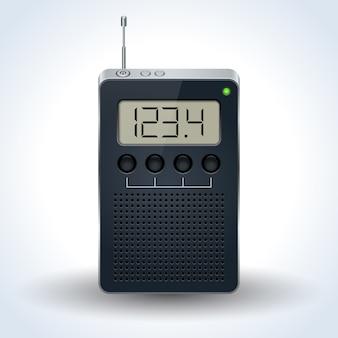 Vetor realista de receptor de rádio de bolso