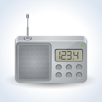Vetor realista de receptor de rádio