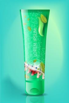 Vetor realístico do tubo natural de creme da anti artrite