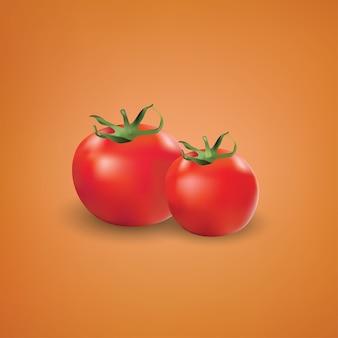 Vetor realístico do vermelho, ilustração do vetor dos tomates 3d.